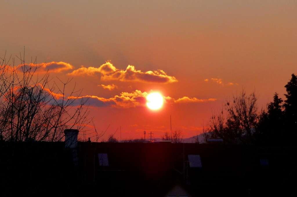 Sunset/Sonnenuntergang bei klirrender Kälte